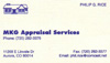 MKG Appraisal business card